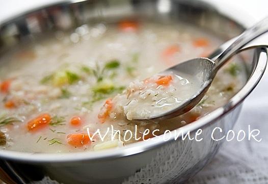 Pearl barley and vege soup