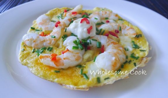 the perfect tiger prawn omelette wholesome cook