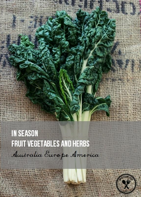 In Season Fruit Vegetables and Herbs