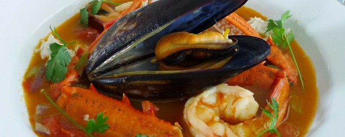 Bouillabaisse, a delicious French seafood soup with a modern twist