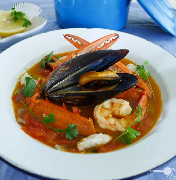 Bouillabaisse a delicious french seafood soup with a for Fish soup recipes