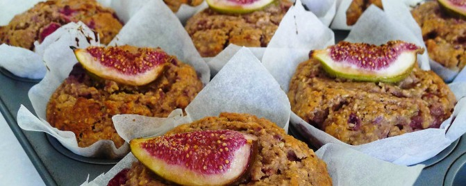 Wholemeal Raspberry and Fig Muffins