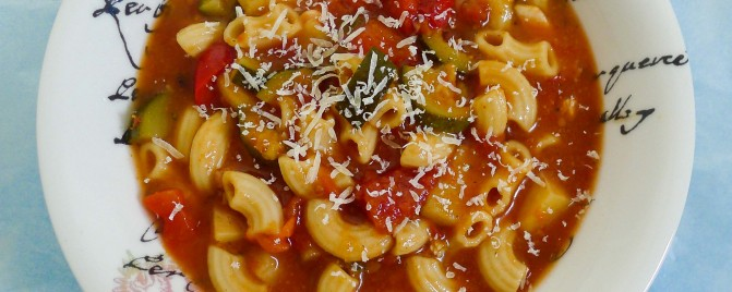 Quick pantry minestrone