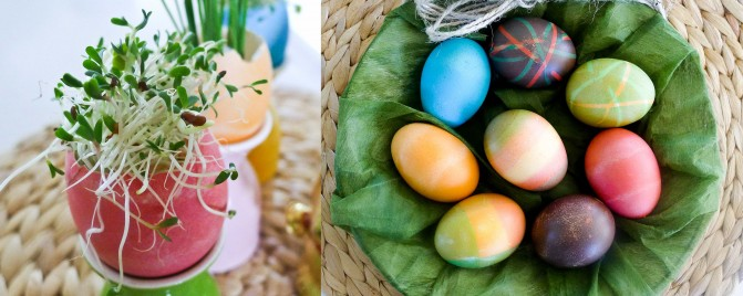 Easter egg colouring tips and edible table decoration ideas