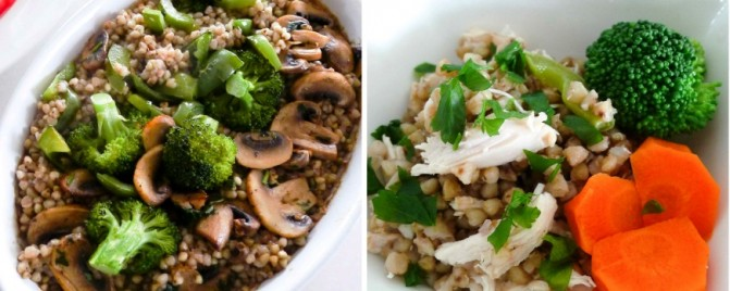 Roasted buckwheat 'risotto' and dinnertime trickery