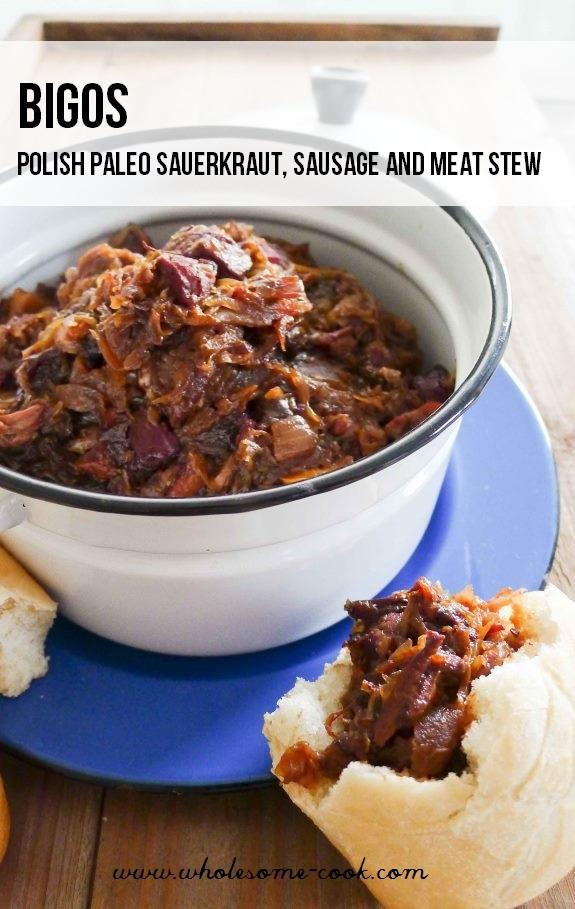 Bigos Polish Paleo Sauerkraut Stew