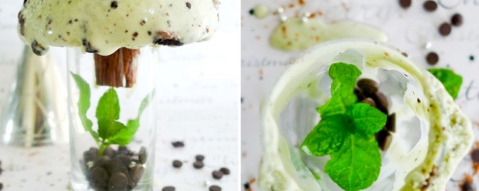{Day 25} Fresh mint and Oreo ice cream for Christmas