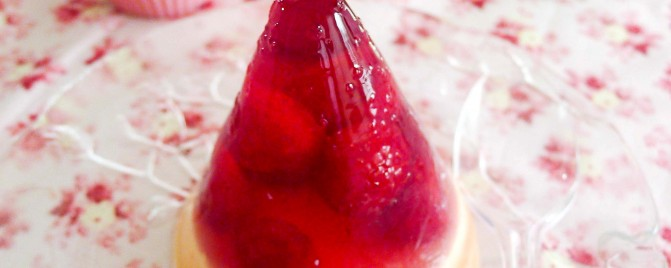 {Day 30} Raspberry, white chocolate and rosewater jelly