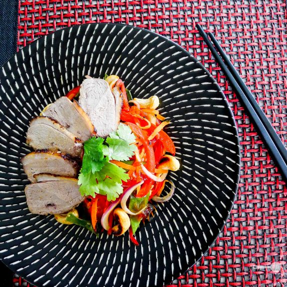 Tea-smoked duck breast with an Asianesque cashew salad | Wholesome ...