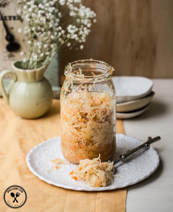 Homemade Sauerkraut Recipe Wholesome Cook