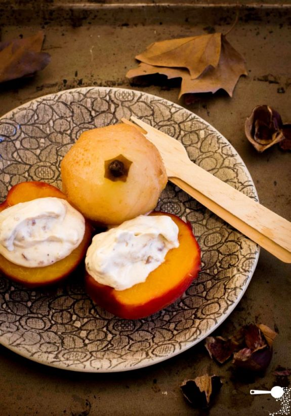 Poached Autumn Fruits with Chestnut Cream | Wholesome Cook