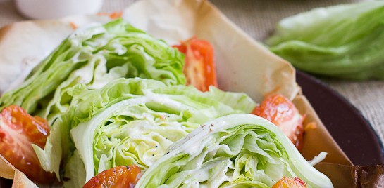 Low-Fat Wedge Salad with Smoked Tomatoes