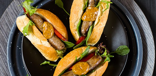 Mini Beef Hot Dogs with the Best Barbecue Mustard