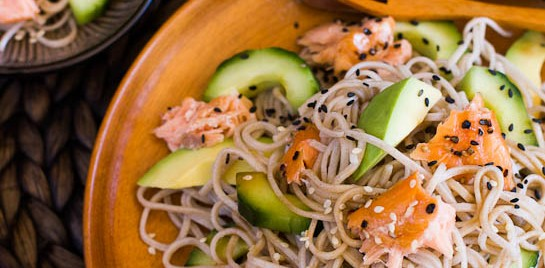 Smoked Salmon and Soba Noodle Salad