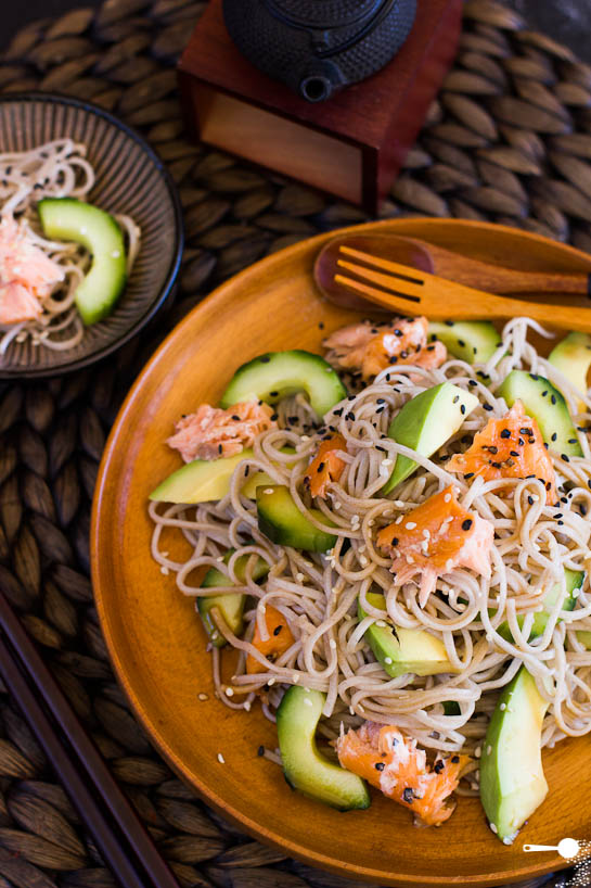 Hot Smoked Salmon, Soba And Asian Greens Salad Recipes — Dishmaps