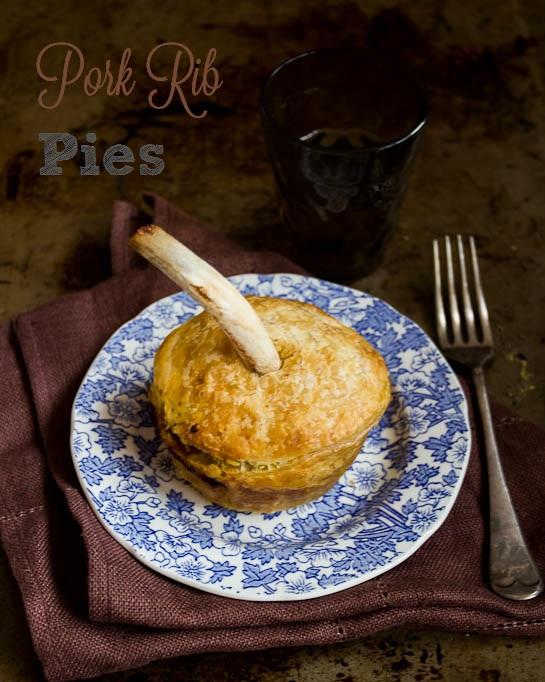 Pork rib pies