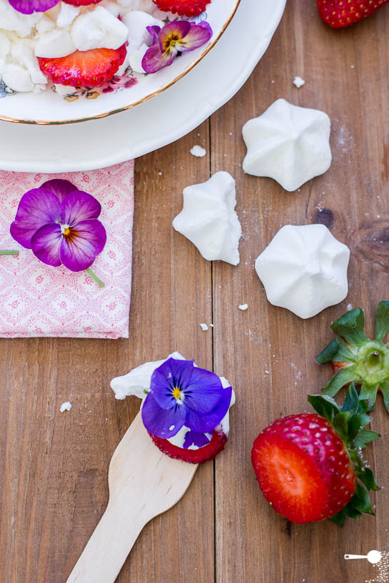 Eton Mess with Pansies plus 5 other edible flower varieties