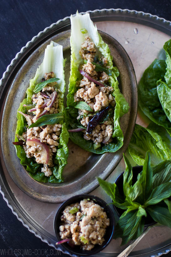 15 Minute Larb Gai Salad | Wholesome Cook
