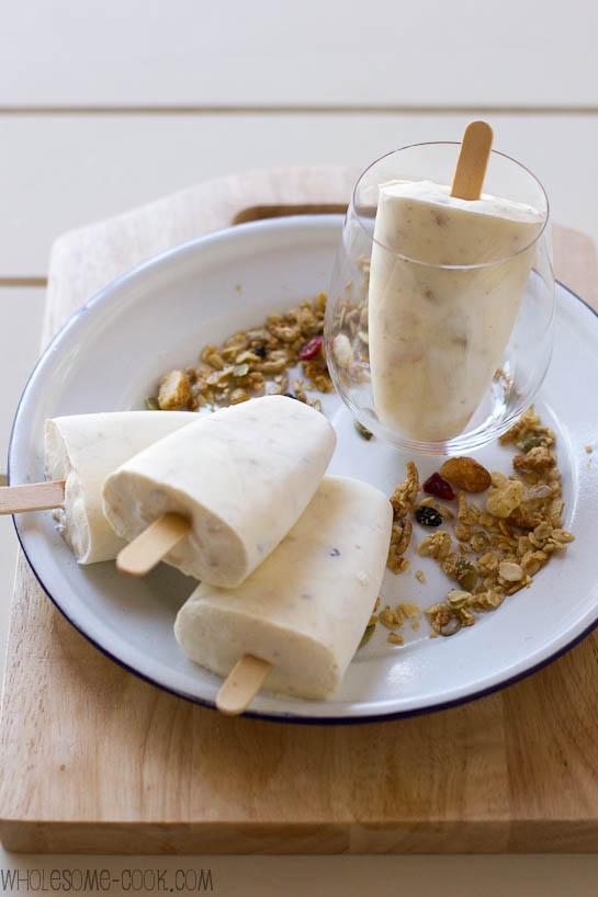 Muesli Frozen Yoghurt Ice Pops