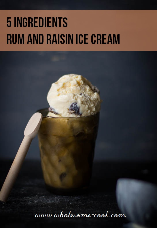 5 Ingredient Rum and Raisin Ice Cream