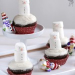 Snowmen Gingerbread Cupcakes (in Polish)
