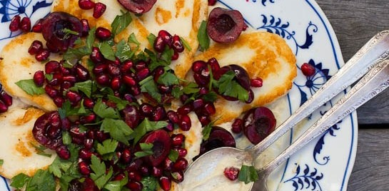 Haloumi Salad with Pomegranate and Cherries | An Engagement and Plans for 2013