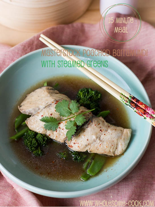 Poached Barramundi with Steamed Greens