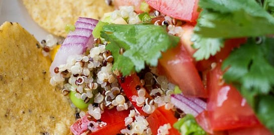 Quinoa Nachos with Pico de Gallo