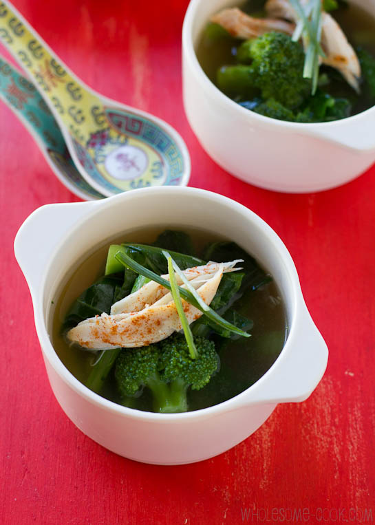 Healing Chicken Soup with Greens