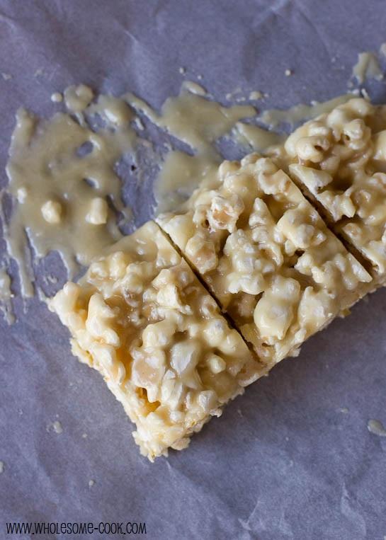 Salted Caramel Popcorn Squares