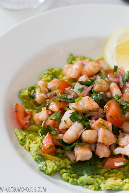 Smoky Chipotle Lime Prawn Salsa on Avocado Mash