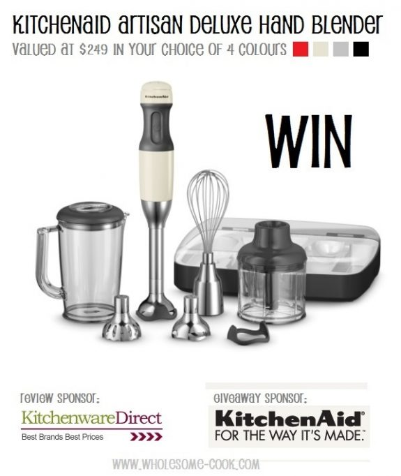 KitchenAid Giveaway WIN an Artisan Deluxe Hand Blender