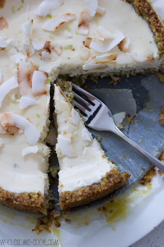 Sarah's sugar-free cheesecake with lime