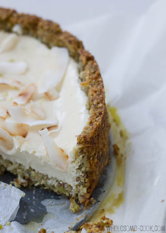 Sarah's sugar-free cheesecake with lime