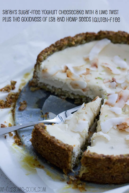 Sarah's sugar-free cheesecake wth lime