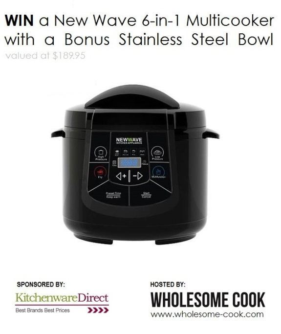 NewWave Multicooker Giveaway Wholesome Cook