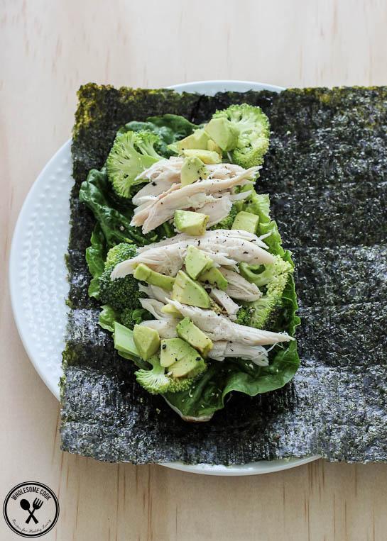 Rice-free Paleo Sushi Rolls