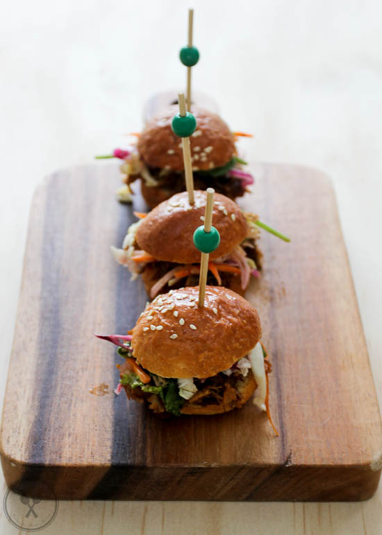 Pulled Lamb Sliders with Slaw