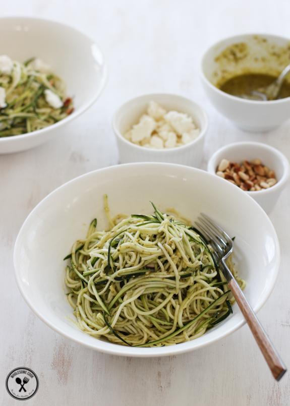 Zucchini Noodles Pasta and Coriander Cashew Pesto