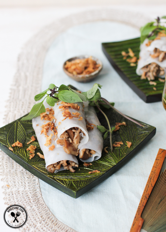 Banh Cuon Vietnamese Rice Noodle Rolls