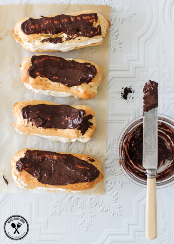 Easy Choux Pastry Recipe for Coffee Cream Eclairs-2-3