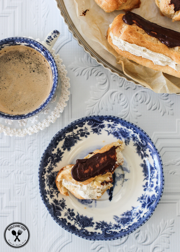 Easy Choux Pastry Recipe for Coffee Cream Eclairs-6