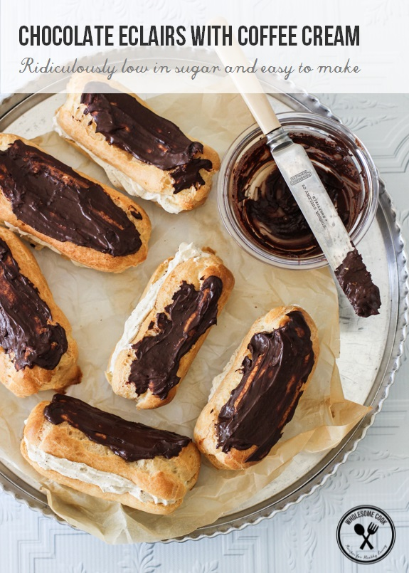Easy Choux Pastry Recipe for Coffee Cream Eclairs-9