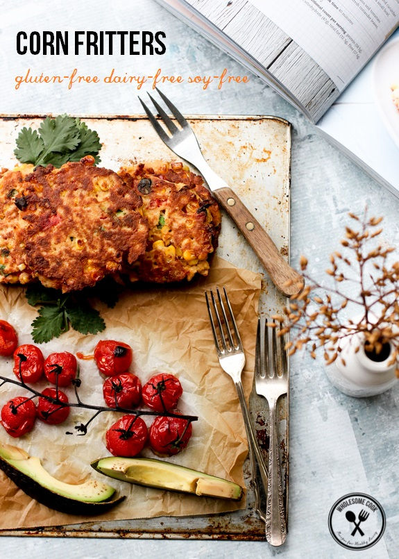 Gluten-free dairy-free Corn Fritters Lorna Jane Nourish