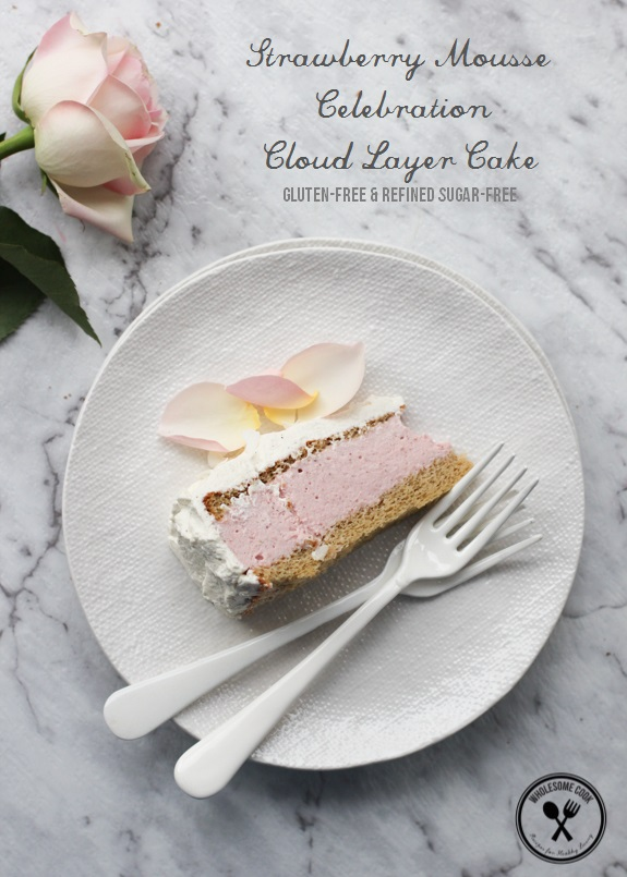 Gluten-free Strawberry Mousse Cloud Layer Cake