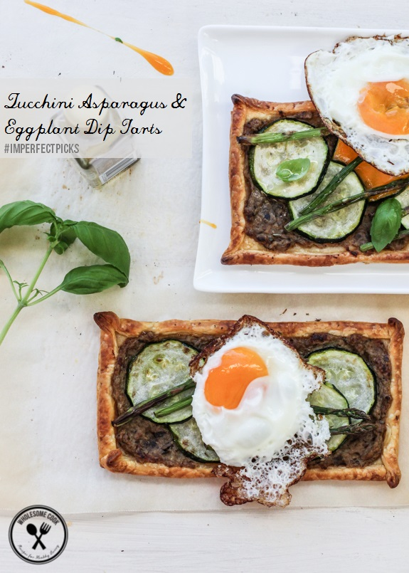 Imperfect Picks Zucchini Asparagus and Eggplant Dip Tart