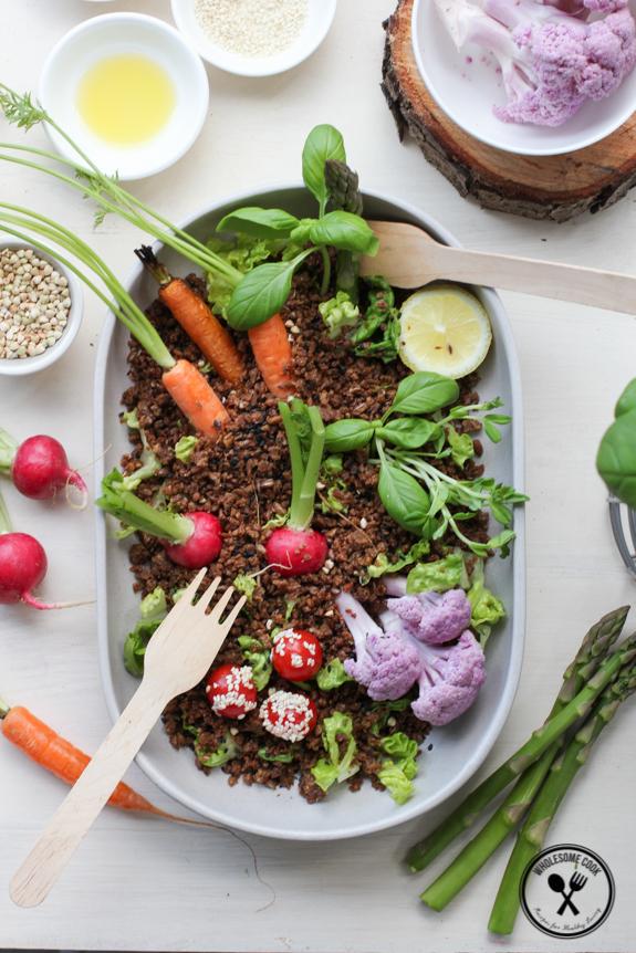 Fun Garden Salad with Edible Dirt-3