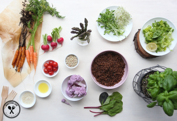 Fun Garden Salad with Edible Dirt