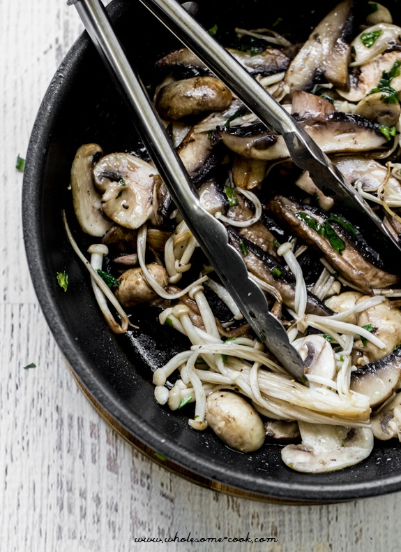 Easy Mixed Mushroom Bruschetta