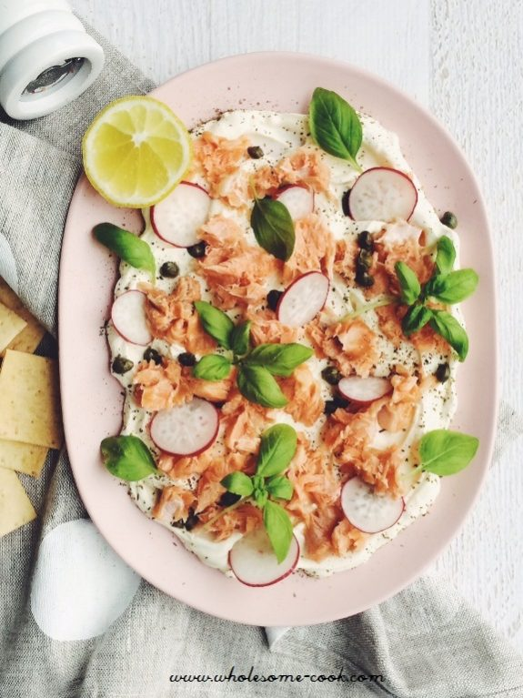 Salmon and Cream Cheese Platter
